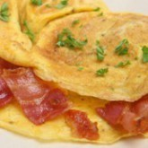 Omelette bacon hyperprotéinée