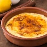 Dessert saveur crème brûlée hyperprotéinée